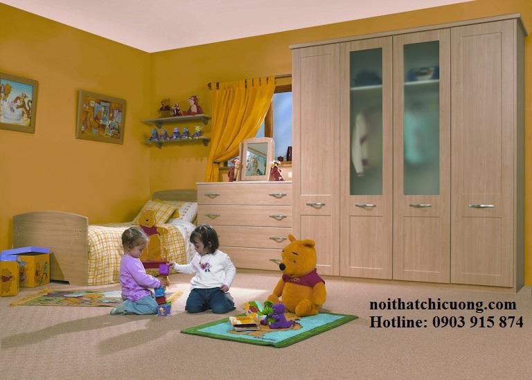 Nội Thất Phòng Ngủ - Tủ Quần Áo Cánh Mở - 047