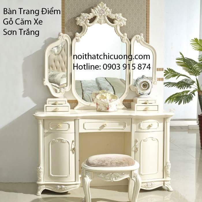 Nội Thất Phòng Ngủ - Bàn Trang Điểm Sơn Trắng - 056