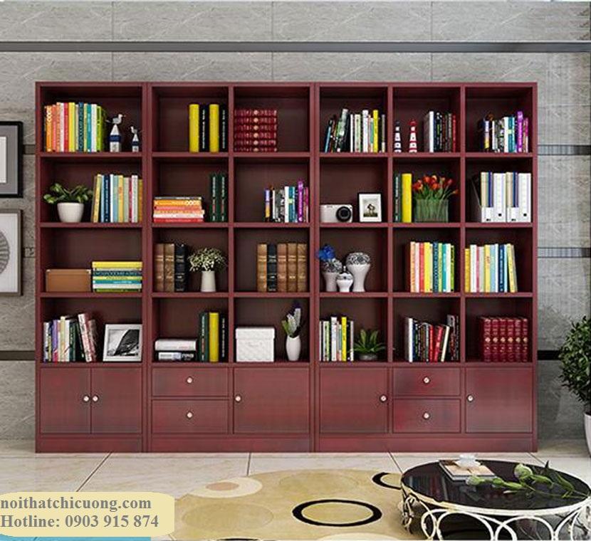 Nội Thất Phòng Khách - Tủ Sách Gỗ  - 014