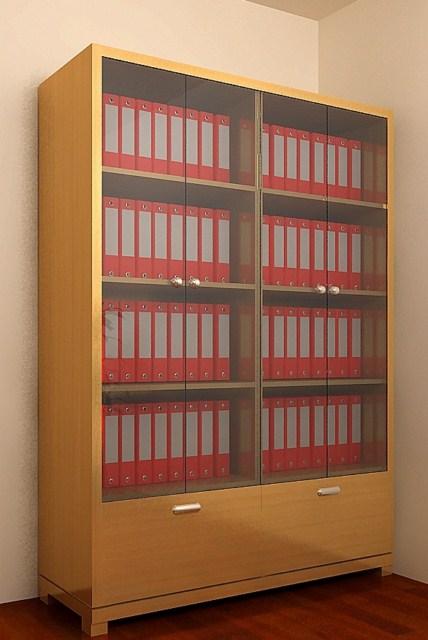 Tủ Hồ Sơ Văn Phòng Bằng Gỗ Căm Xe Tự Nhiên -001