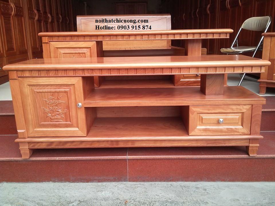 Kệ Tivi Phòng Khách - Gỗ Xoan Đào Đẹp -010