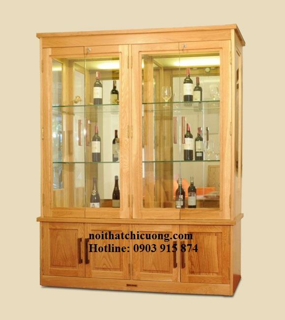 Tủ Rượu Đẹp Hiện Đại Bằng Gỗ Sồi -012