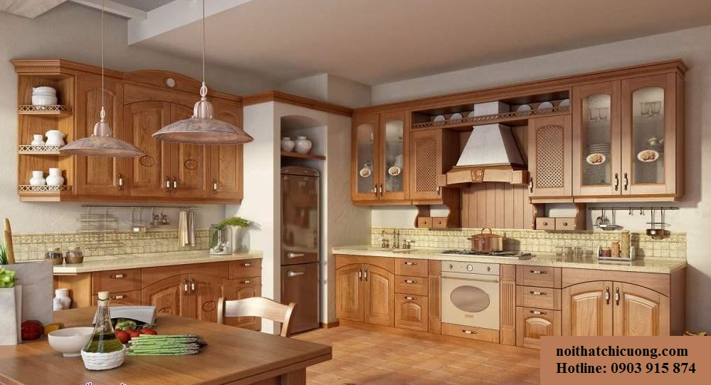 Nội Thất Phòng Bếp -Tủ Bếp Cổ Điển Châu Âu - 036