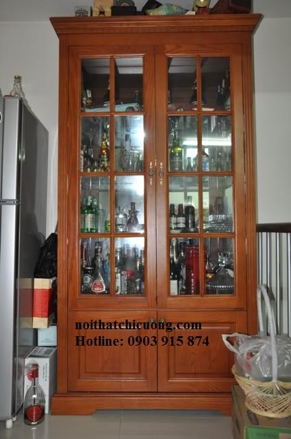 Tủ Rượu Bằng Gỗ Căm Xe Tự Nhiên -013