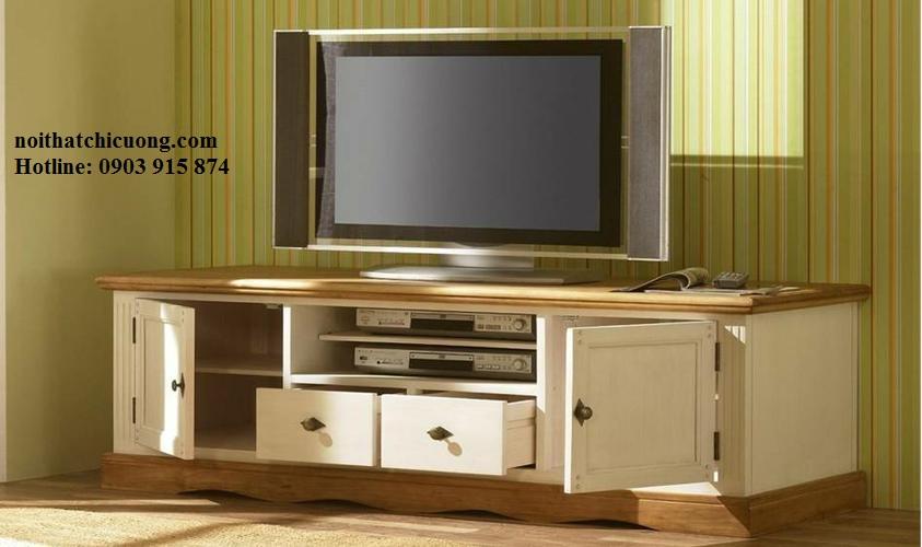 Kệ Tivi Bằng Gỗ Sồi Cho Phòng Khách -014