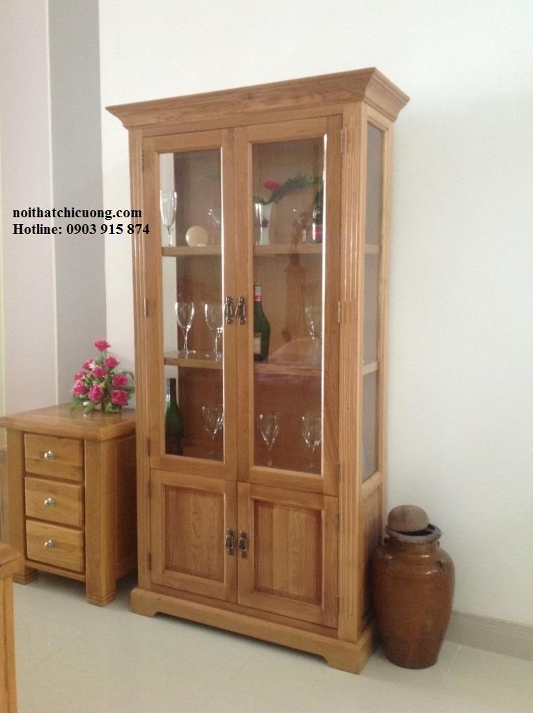 Tủ Rượu Cho Ngôi Nhà Phố Đẹp - Gỗ Sồi -014