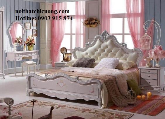 Nội Thất Phòng Ngủ - Giường Ngủ Sơn Trắng - 150