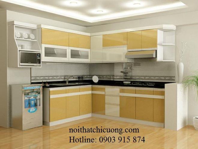 Nội Thất Phòng Bếp - Tủ Bếp Chữ I Gỗ Công Nghiệp  -055