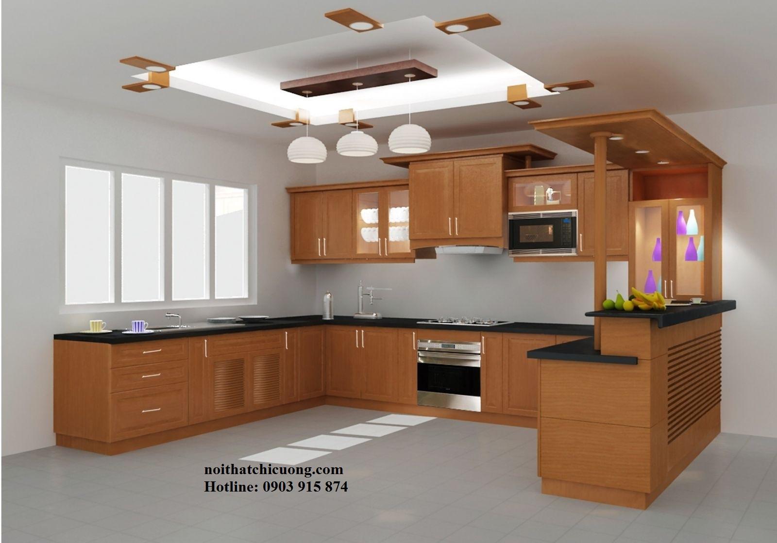 Nội Thất Phòng Bếp - Tủ Bếp Chữ U - 73