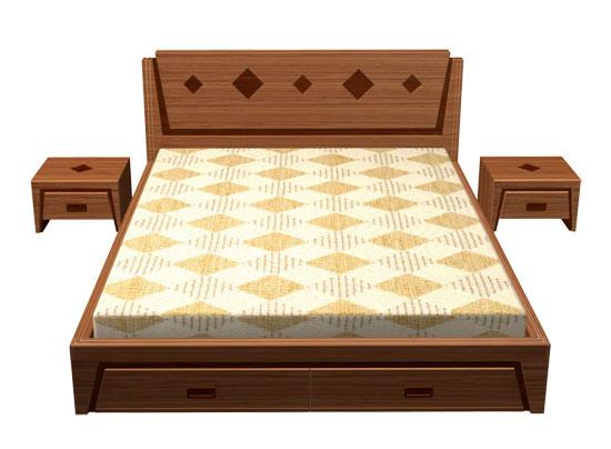 Giường Ngủ Hiệ Đại  Bằng Gỗ Huỳnh Đàng Tự Nhiên -057