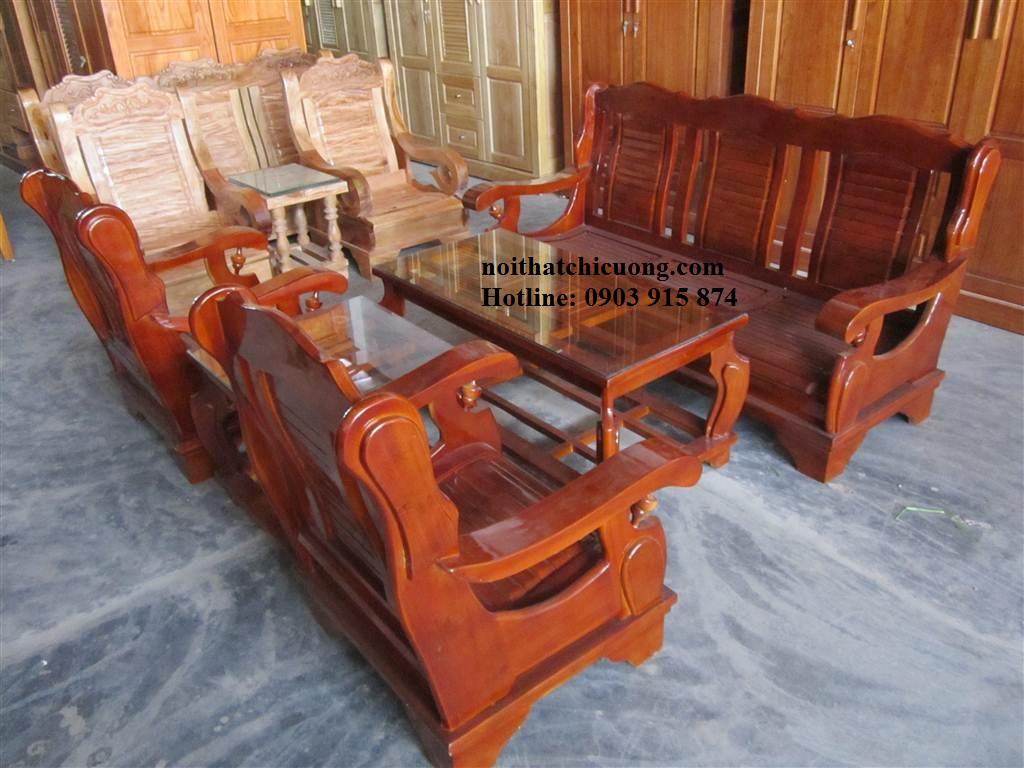 Bàn Ghế Phòng Khách - Gỗ Xoan Đào Cho Nhà Đẹp -022