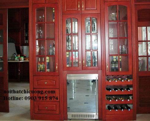 Tủ Rượu Phòng Khách - Gỗ Huỳnh Đàng Đẹp Hiện Đại -022