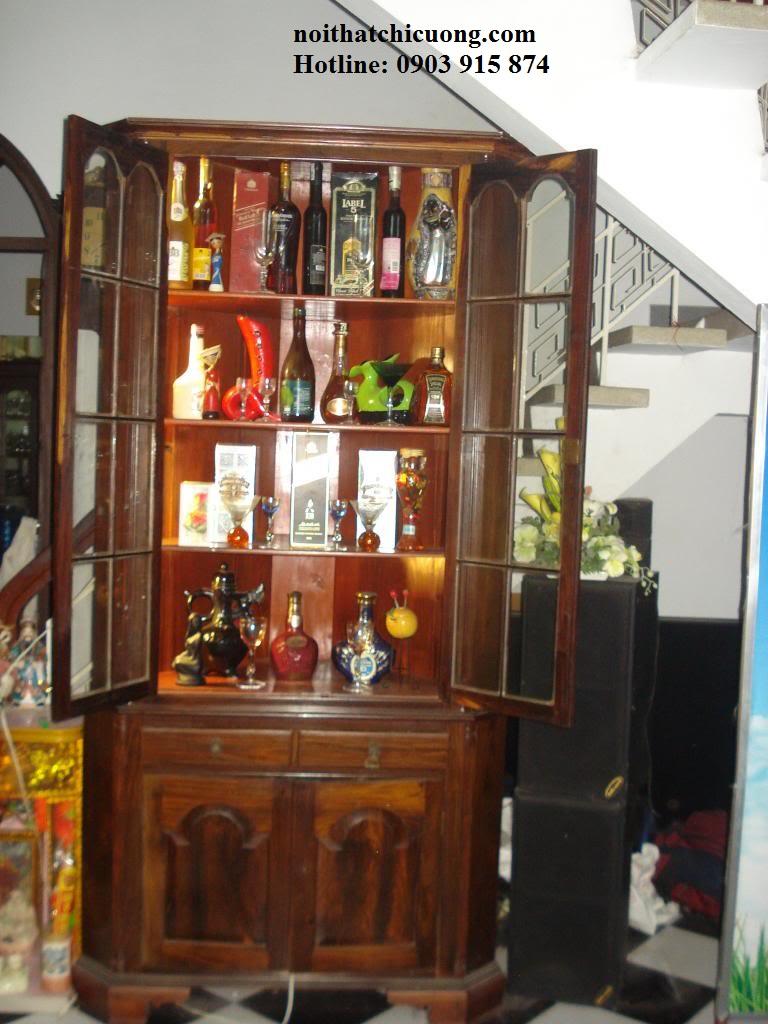 Tủ Rượu Phòng Khách - Gỗ Huỳnh Đàng Chất Lượng -023