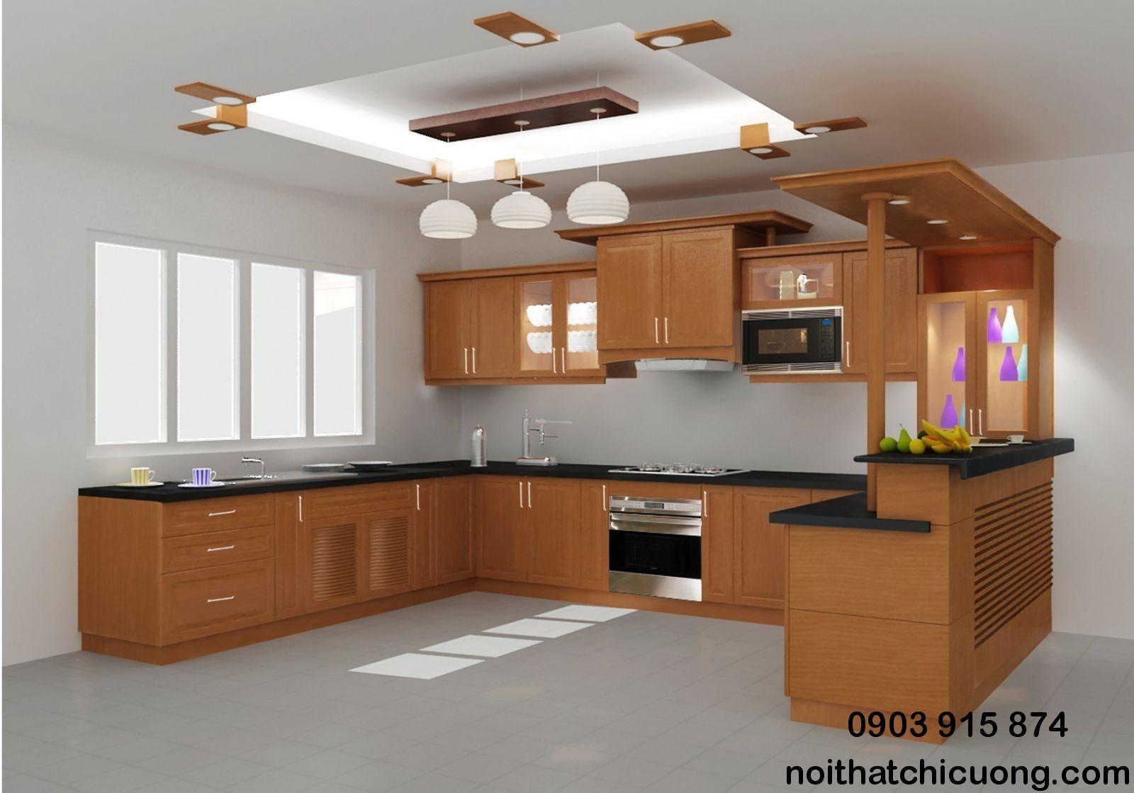 Nội Thất Phòng Bếp - Tủ Bếp Có Quầy Bar - 068