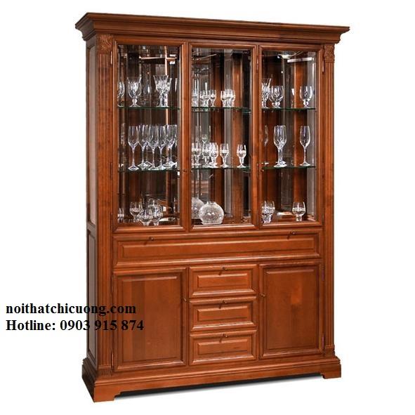 Tủ Rượu Đẹp Cho Nhà Phố Hiện Đại - Gỗ Căm Xe - 031