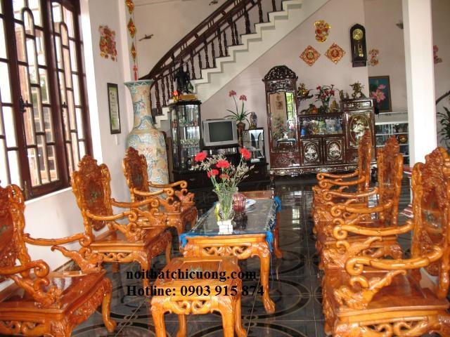 Bộ Bàn Ghế Gỗ  Phòng Khách Sang Trọng - Gỗ Huỳnh Đàng -035