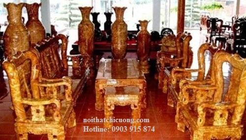 Bàn Ghế Phòng Khách Gỗ Huỳnh Đàng Sang Trọng -037