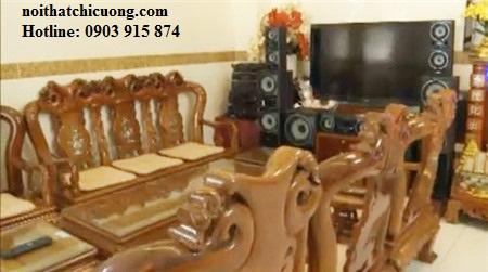 Bàn Ghế Phòng Khách Sang Trọng - Gỗ Huỳnh Đàng -039