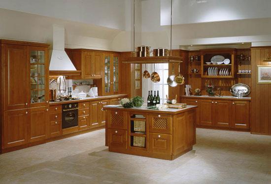 Tủ Bếp Có Bàn Đảo Cổ Điển - Gỗ Cẩm Lai -011