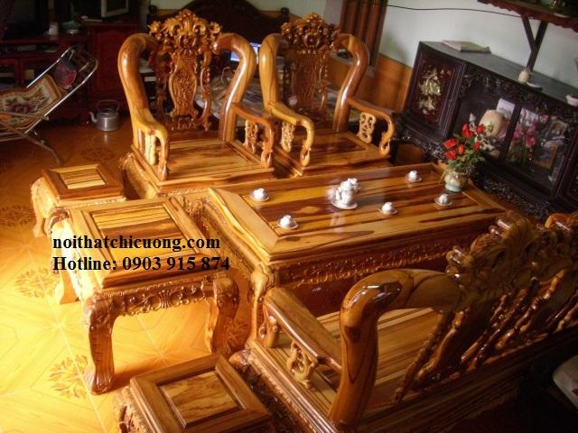 Bàn Ghế Gỗ Cẩm Lai Cho Phòng Khách Nhà Phố Đẹp -059