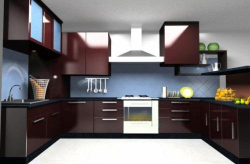 Tủ Bếp Dạng Chữ U Cho Nhà Phố - 039