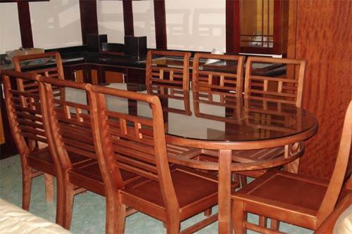 Bộ Bàn Ăn Đẹp Cho Phòng Bếp Gia Đình - Gỗ Xoan Đào -042