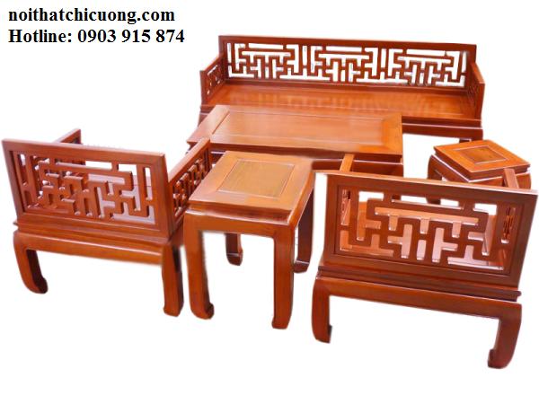 Bàn Ghế Đẹp Cho Nhà Xinh - Gỗ Xoan Đào Đơn Giản -090