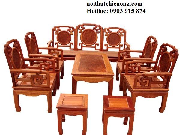 Bàn Ghế Đẹp Cho Phòng Khách - Gỗ Huỳnh Đàng Cổ Điển -092