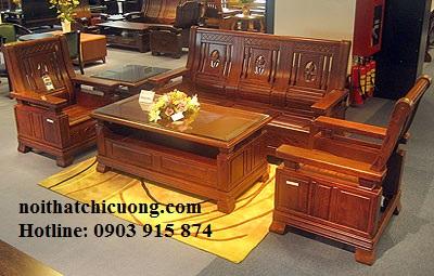 Bàn Ghế Đẹp Cho Phòng Khách - Gỗ Gỏ Đỏ Chất Lượng-097