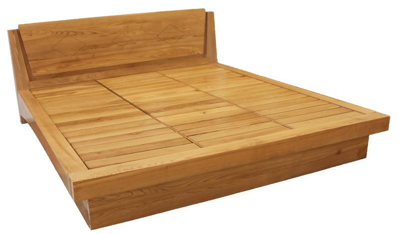Giường Ngủ Cho Nhà Phố - Gỗ Sồi Tự Nhiên -016