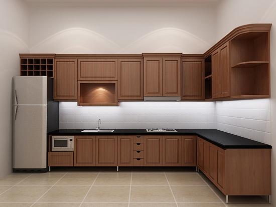 Tủ Bếp Dạng Chữ L - Gỗ Huỳnh Đàng Cao Cấp -001