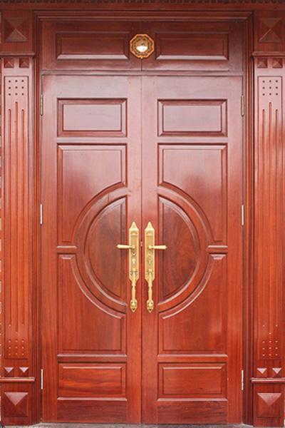 Cửa, Khung Cửa Nhà Phố Sang Trọng Bằng Gỗ Gỏ Đỏ Tự Nhiên-075