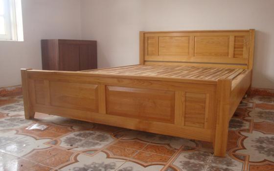 Giường Ngủ Đẹp - Nội Thất Gỗ Sồi Cao Cấp -040
