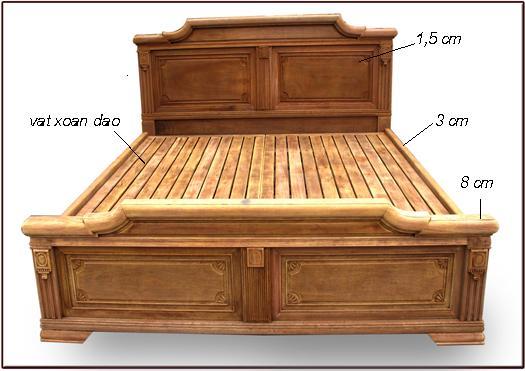 Giường Ngủ Bằng Gỗ Xoan Đào Hiện Đại -058