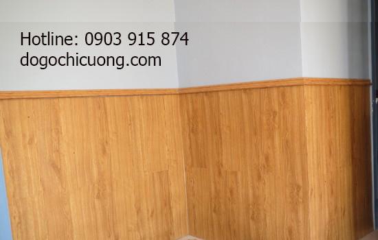 Mẫu Ốp  Gỗ  Chân Tường Cho Phòng Khách -011