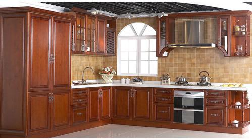 Tủ Bếp Dạng Chữ L Cổ Điển Cho Nhà Phố-068
